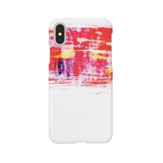 真っ赤に染まる朝焼け色。 Smartphone cases
