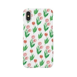 チューリップ柄iPhoneケース スマートフォンケース