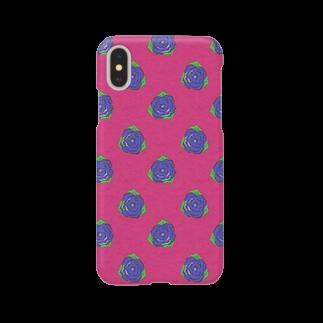 【Brue Rose】errieのBrue Rose ビビッドピンク  Smartphone cases