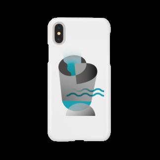 sknstmのDrinking glass Smartphone cases
