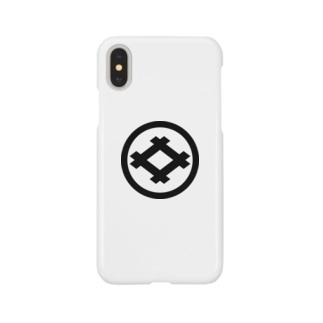 丸に井桁 Smartphone cases