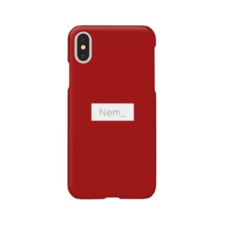Nem_のねむふぉん_red Smartphone cases