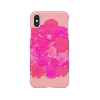 癒しと幸せの占い師・ちぃのお店の愛をこめて花束を Smartphone cases