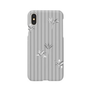 ドラセナの葉っぱ🌿ストライプ スマートフォンケース