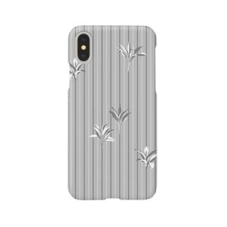 ドラセナの葉っぱ🌿ストライプ Smartphone cases