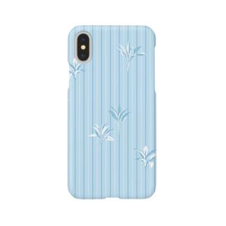 ドラセナの葉っぱ🌿ストライプ2 Smartphone cases