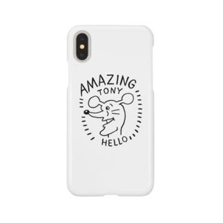アメイジングトニー黒 Smartphone cases