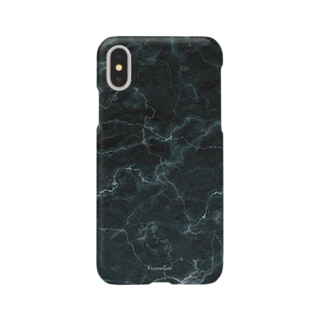 撮影背景になるかも_大理石クラックBブラック Smartphone cases