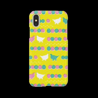 るこのライチョウのおさんぽ yellow Smartphone cases