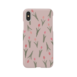 ▷            chiroruの🌷  tulip. pink Smartphone cases