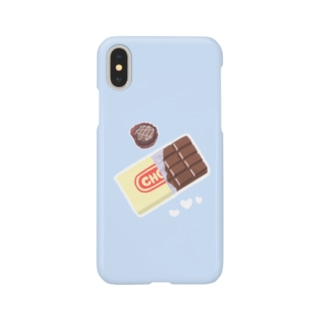 チョコ×SKYBLUE Smartphone cases