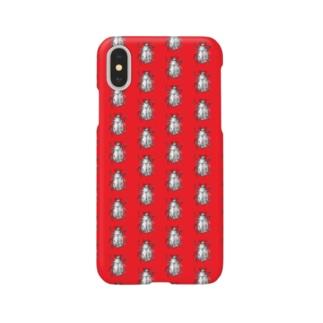コガネムシ(赤)総柄 Smartphone cases