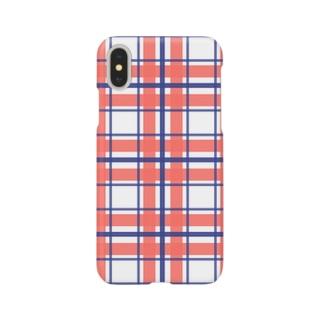 なんか好きな色のチェック Smartphone cases