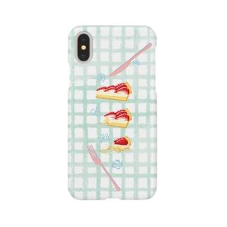 いちごタルトのスマホケース Smartphone cases