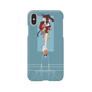 Lv.21の猫と電柱 Smartphone cases