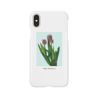 Tulip / pink blue Smartphone cases