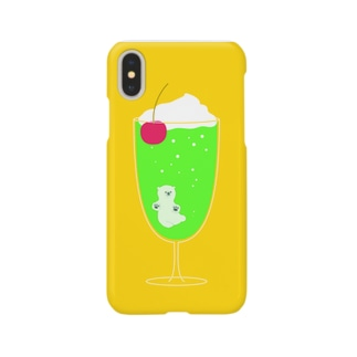 creamsodaのくまちゃん Smartphone cases