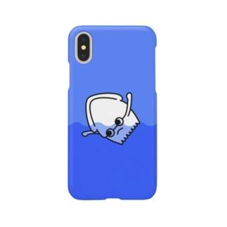 イカにしては独特な泳ぎ方をするイカくん Smartphone cases