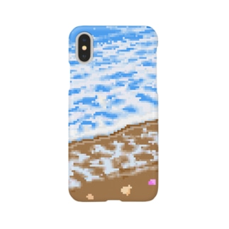 海の波打ち際 Smartphone cases