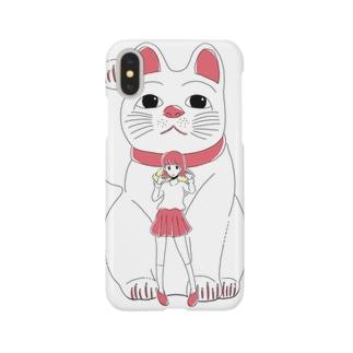 招き猫ガール Smartphone cases