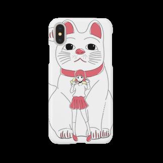 並河 泰平の招き猫ガール Smartphone cases