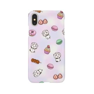 パンダinぱんだwithスイーツ(総柄) Smartphone cases