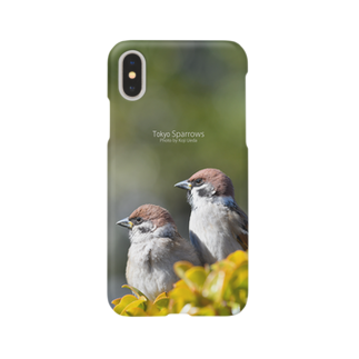aliveONLINE SUZURI店の東京すずめ Smartphone cases