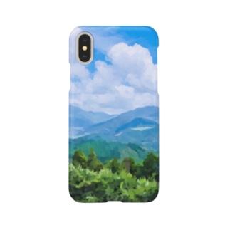 なつぞら 由布の山景色 Smartphone cases