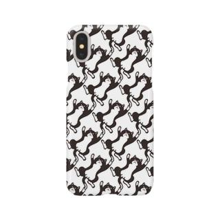 無限じゃれ猫ハチワレ/オス スマートフォンケース Smartphone cases