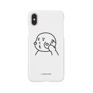 cheeky cheeky 厚かましい男の子 電話中 Smartphone cases