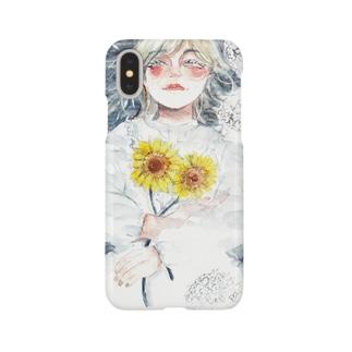 『水面に笑う』©️オカ サヤカ Smartphone cases