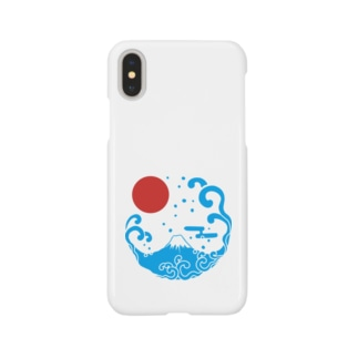 富士山・波 Smartphone cases