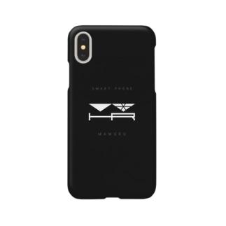 ひよりん*のスマートフォン守るやつ くろい Smartphone cases