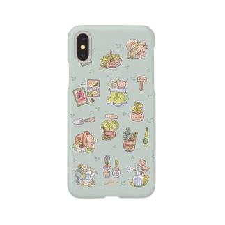 ガーデンくまちゃん Smartphone cases