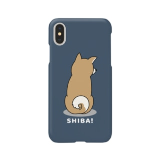 shiba2(ネイビー) Smartphone cases