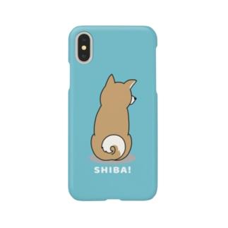 shiba2(ブルー) Smartphone cases