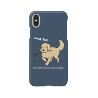 good job(ネイビー) Smartphone cases