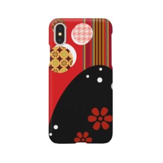手毬と花 Smartphone cases