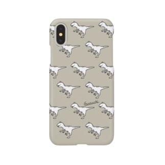 ラプタースマホケース(オフホワイト╳カ-キ) Smartphone cases