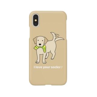 ラブソックスイエロー(イエロー) Smartphone cases