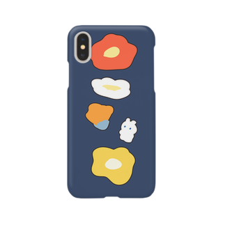セスジキノボリのうさぎとポピー Smartphone cases