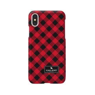 ギンガムチェック 赤×黒 for iPhone Smartphone cases