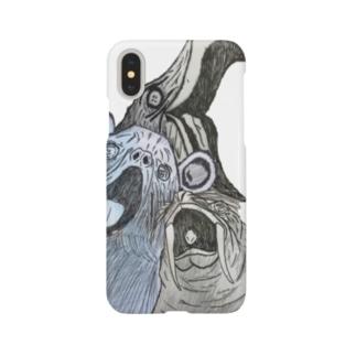 発狂アニマルシリーズ01~03 Smartphone cases