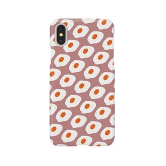 めだまやき大量発生(ピンクベージュ) Smartphone cases