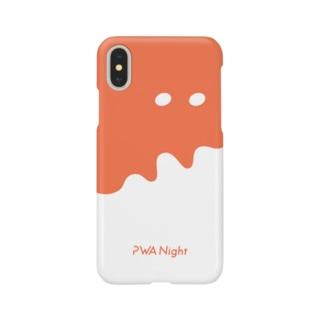 でかぷわんケース反転 Smartphone cases