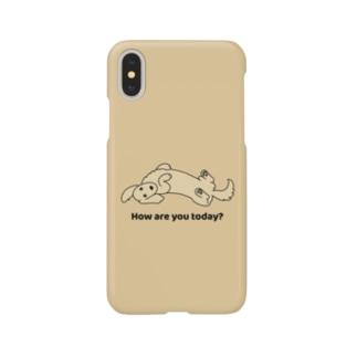 ダックス2イエロー(イエロー) Smartphone cases
