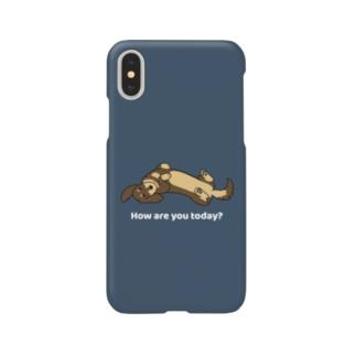 ダックス2チョコタン(ネイビー) Smartphone cases