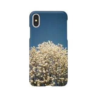 白い花 Smartphone cases