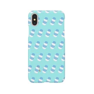 牛乳瓶総柄 Smartphone cases
