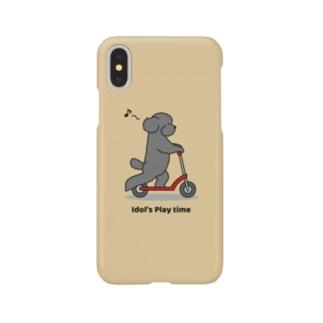 トイプー 1 黒系(イエロー) Smartphone cases